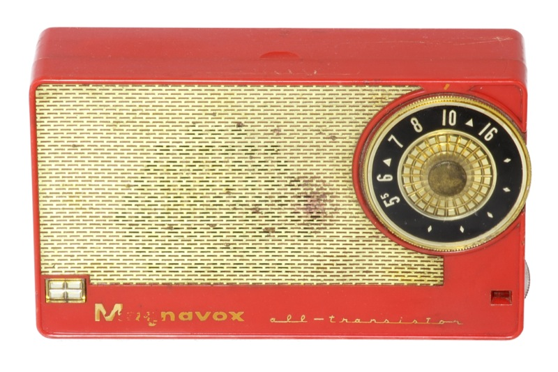 23. First Magnavox all-transistor radio 1957